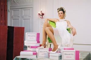 Chaussure de mariées Mademoiselle Rose Créatrice