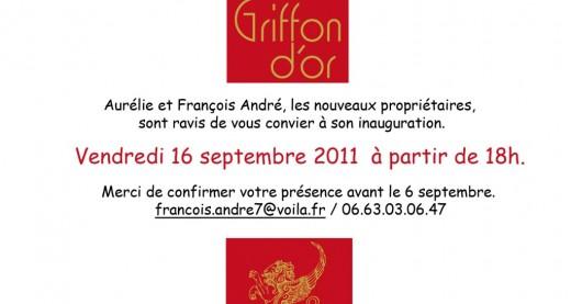 INVITATION Hotel Le Griffon d'Or