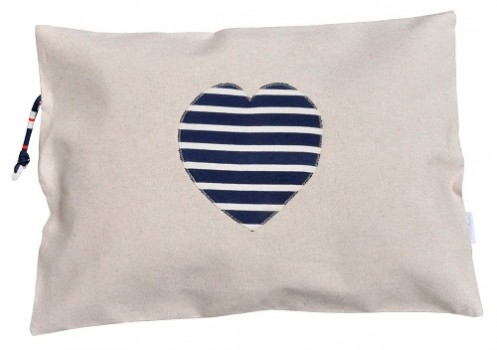Coussin coeur bleu Made in Mariniere bd