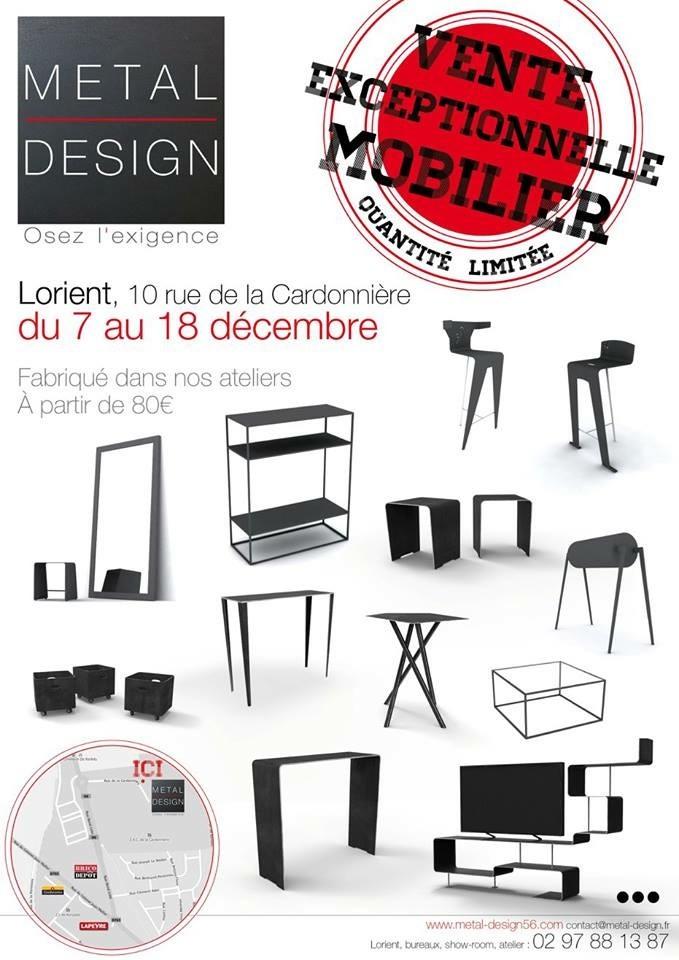 Affiche vente Metal Design