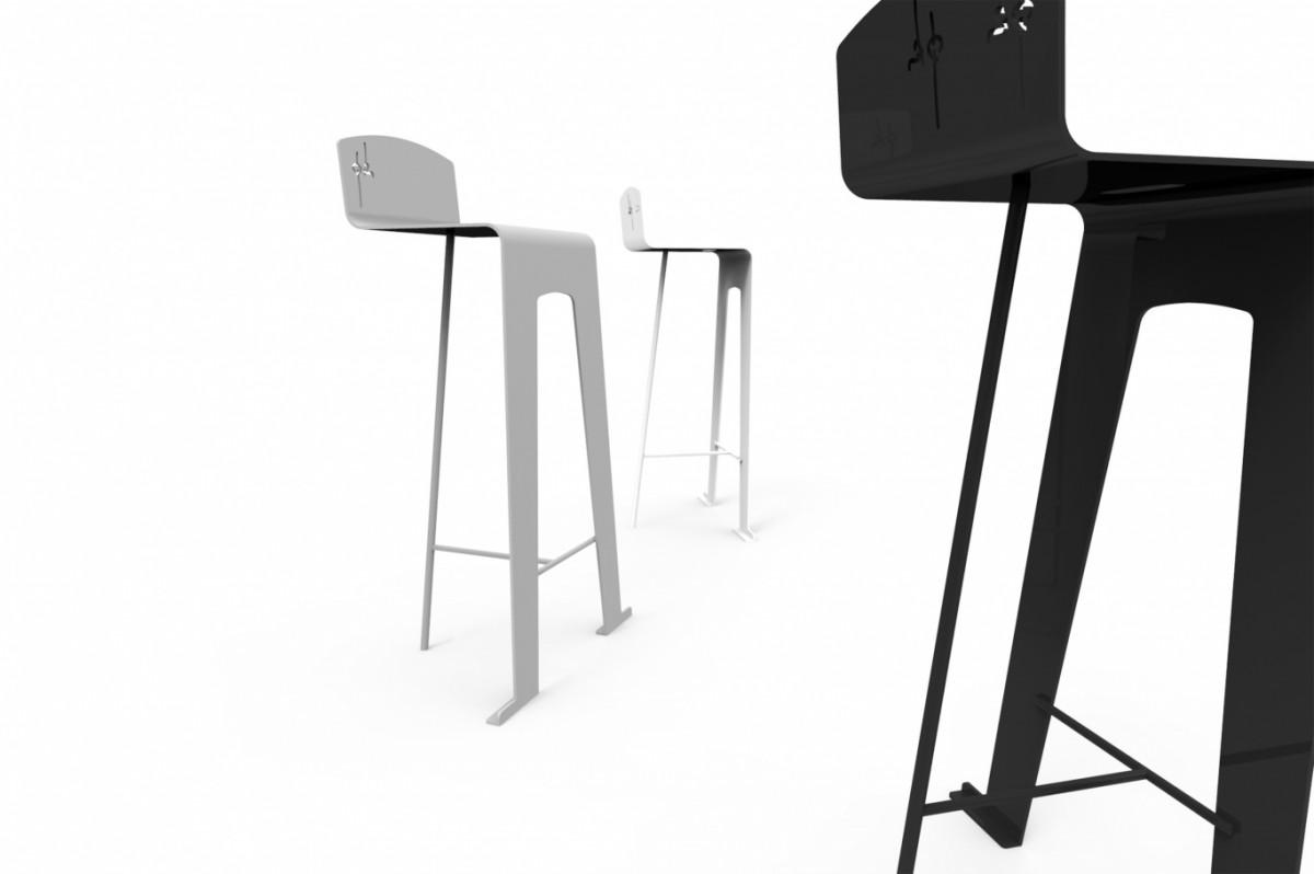 Chaise Pk Métal Design B&W&G 3