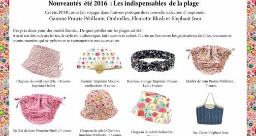 CP  Nouveautés PPMC ete 2016
