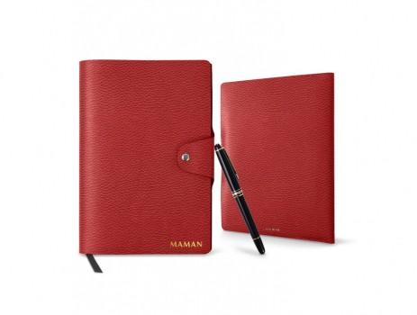 carnet-de-note-a5-rechargeable-rouge-cuir-grainé-2