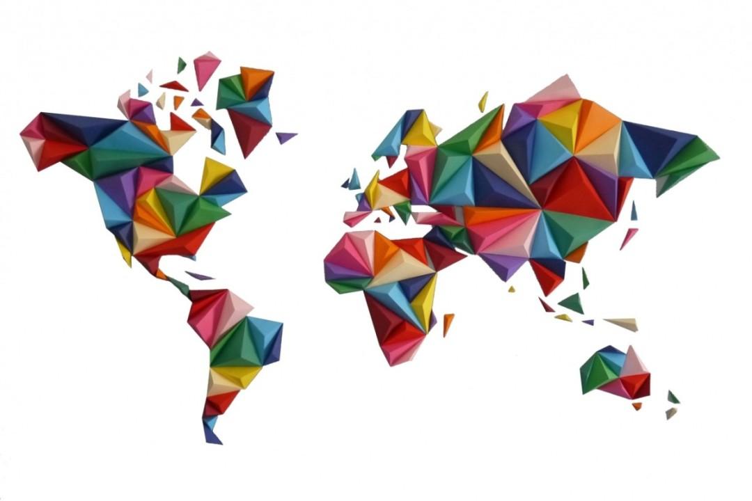 mappemonde origami