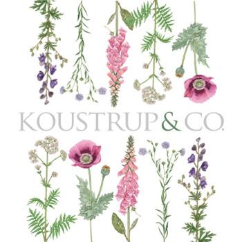 Logo med blomster